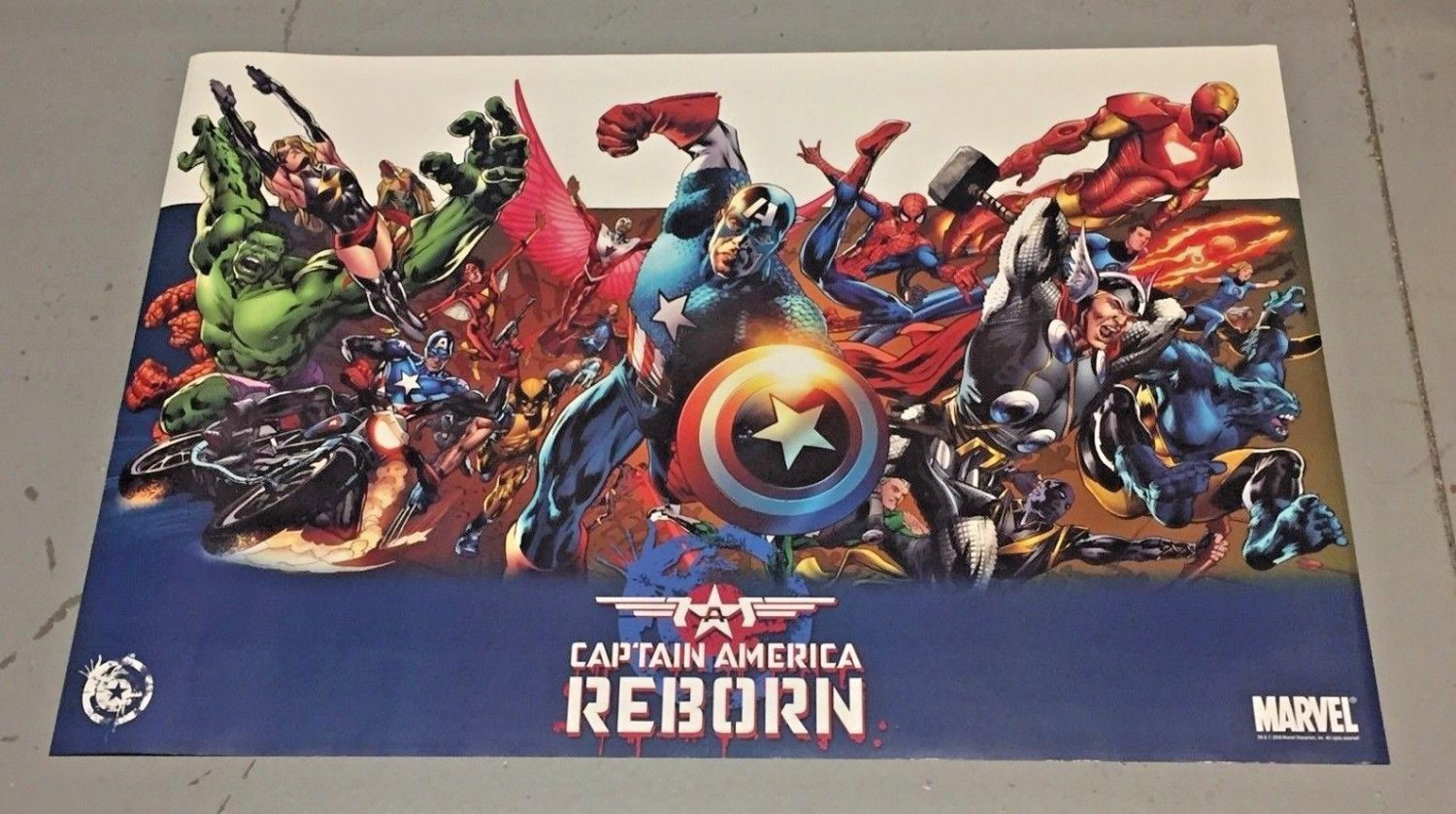 CAPTAIN AMERICA REBORN COLLAGE POSTER 24 x 36 inches BRYAN HITCH