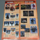 "Vintage October 2008 Diamond Previews ""Must Have"" Poster (22x28) never prev displayed"