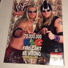 WWF Wrestling Magazine WWE August 2001 Wrestler w/ Edge Christian 2 Sided Poster