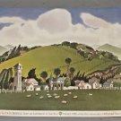 Vintage 1985 Don Birrell Cordelia Skyline Nut Tree Poster @ Vacaville CA 18 x 24 inches