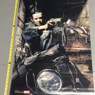 Vintage Punisher on Motorcycle Poster (2004) art by Tim Bradstreet 24x36 inches