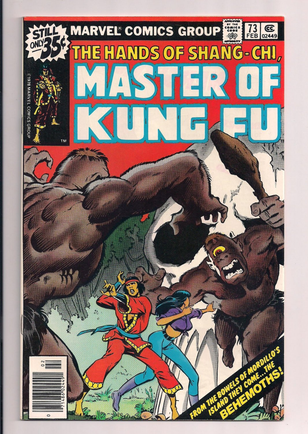 Shang-Chi, Master of Kung Fu #73 a (1979) very fine / near mint condition comic