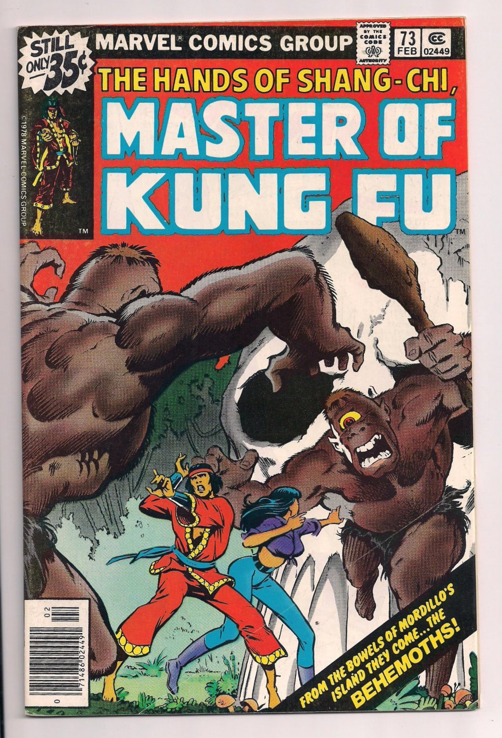 Shang-Chi, Master of Kung Fu #73 b (1979) very fine condition or better.