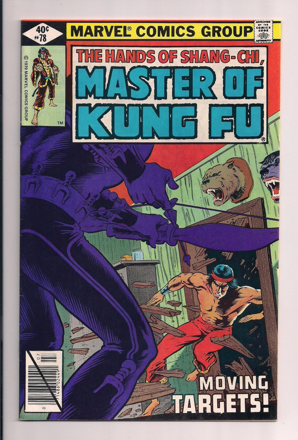 Shang-Chi, Master of Kung Fu #78 a (1979) near mint condition comic