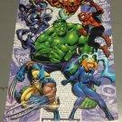"Marvel ""Hero"" Character Collage Poster (2001) Unused 22x34 Hulk Spider-man Wolverine Iron Man"