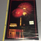 1988 Washington Monument / Capitol / Lincoln Memorial Poster 23 x 35 Celebrate America