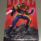 1994 X-Men Bishop Poster (34 x 22 inches) Bob Larkin Marvel Comics Press poster Unused