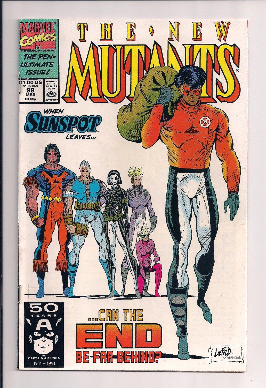 New Mutants #99 (1991) very fine condition comic (st7)