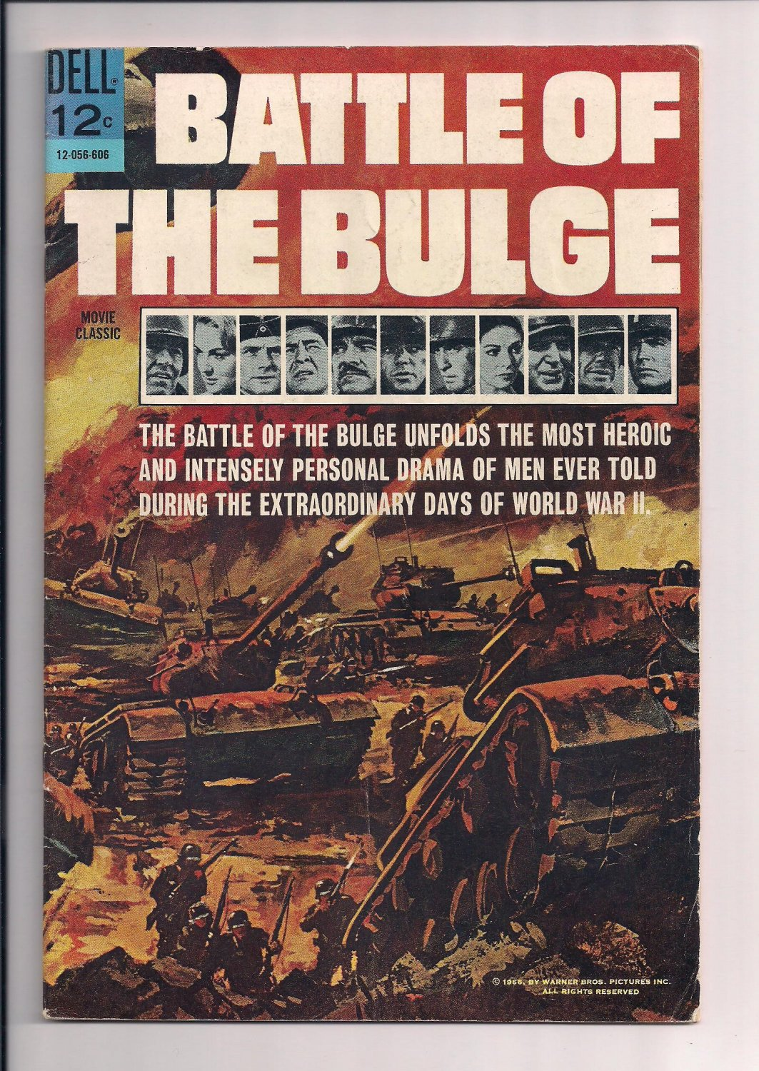 Dell Battle of the Bulge Comic #606 (1966) fine / very fine condition comic