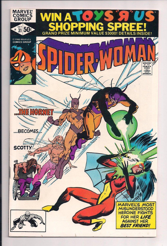 Spider-Woman #31 (1980) Spiderwoman near mint condition comic (ga6)