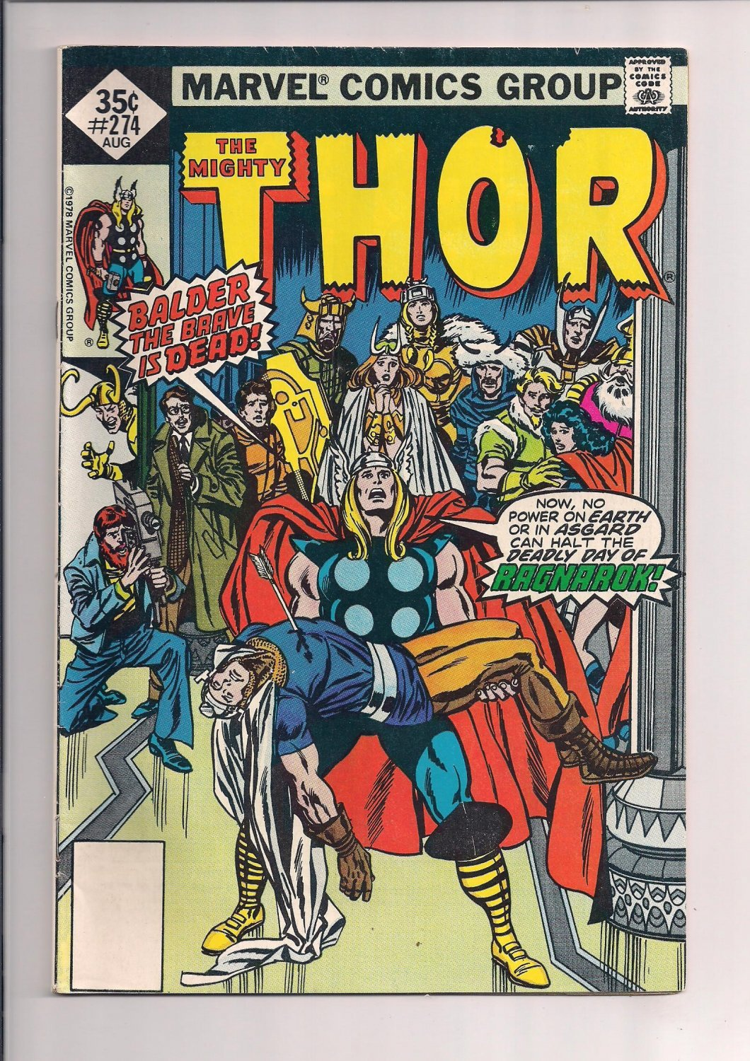 Thor #274 (1978) Death of Balder very fine condition or better sh3