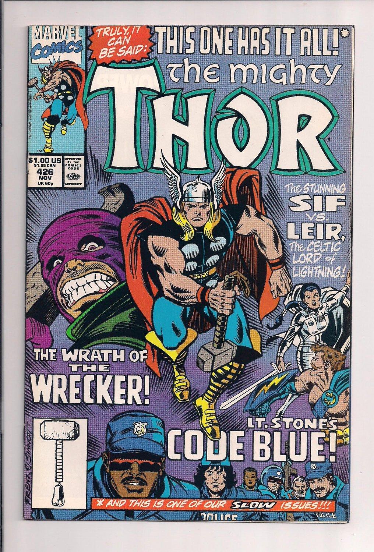 Thor #426 (1990) very fine / near mint condition comic sh3