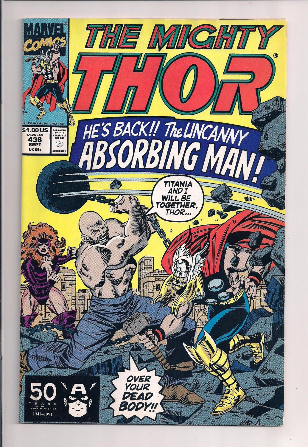 Thor #436 (1991) near mint condition comic or better sh3