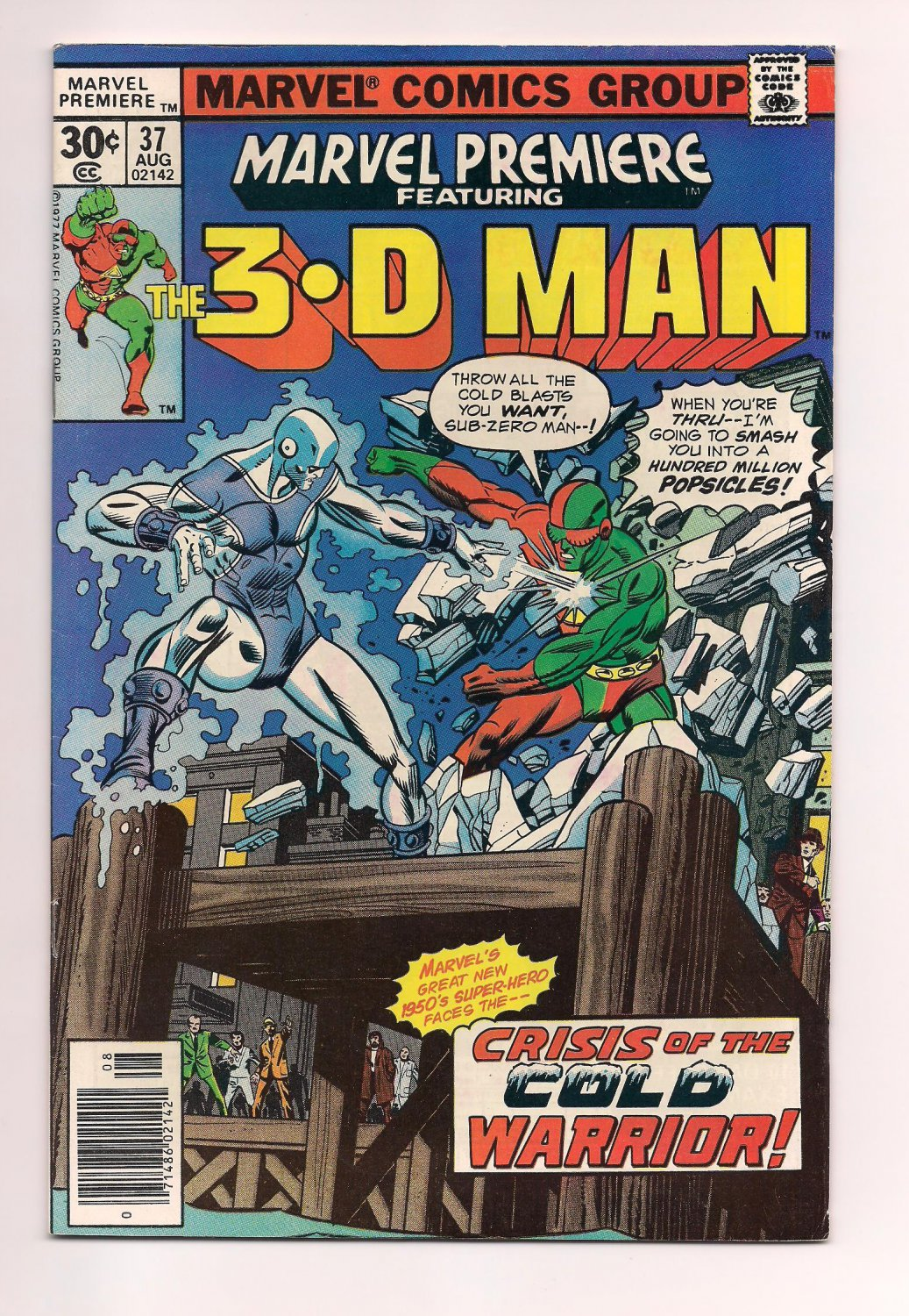 Marvel Premiere #37 (1977) vf or better condition comic (sh3) featuring 3-D Man