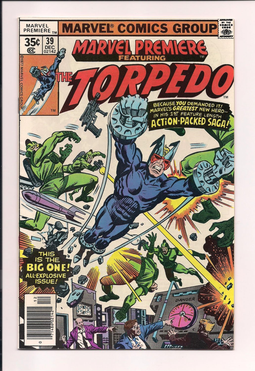 Marvel Premiere #39 (1977) vf or better comic (sh3) featuring The Torpedo