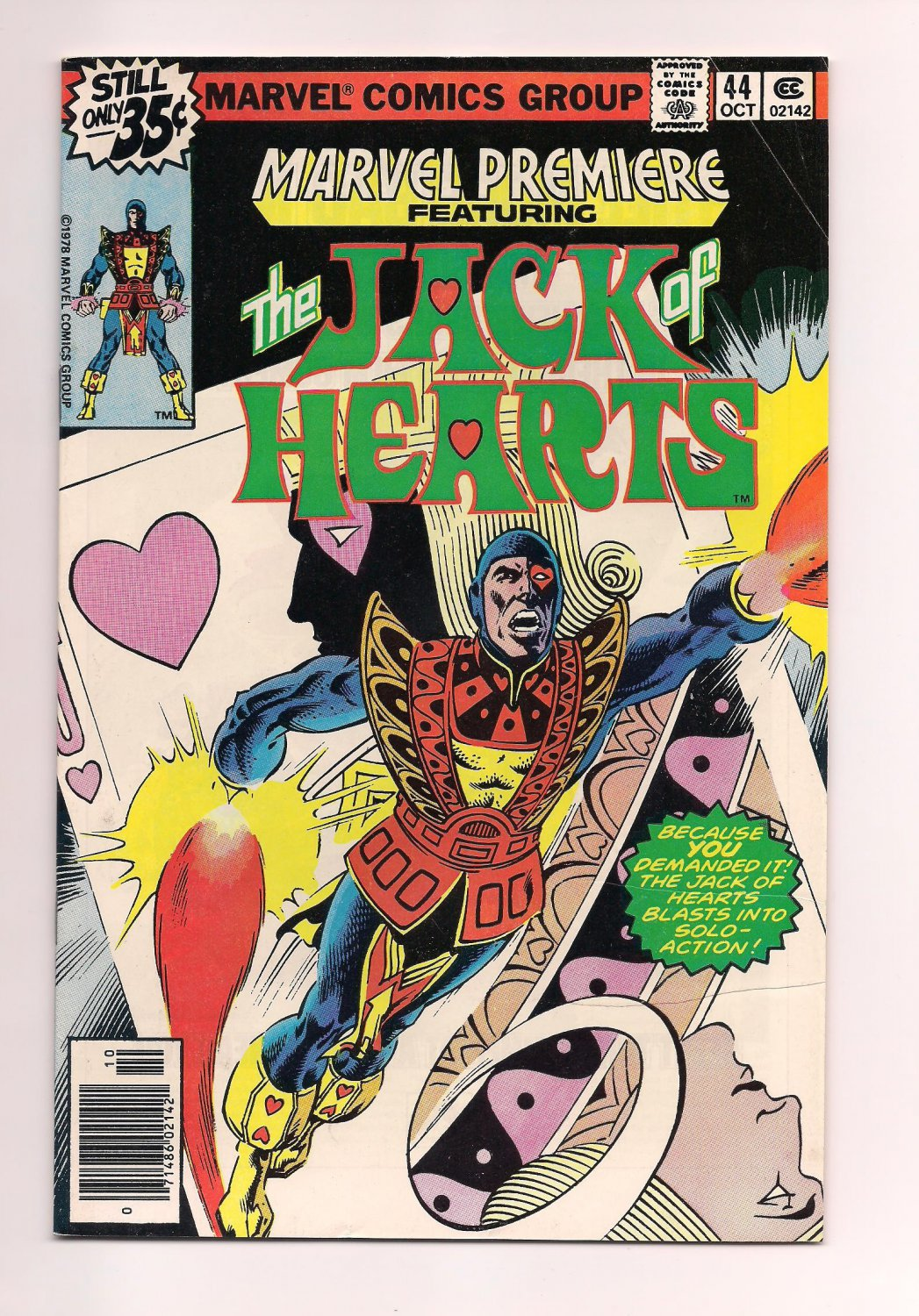 Marvel Premiere #44 (1978) vf or better comic (sh3) featuring Jack of Hearts