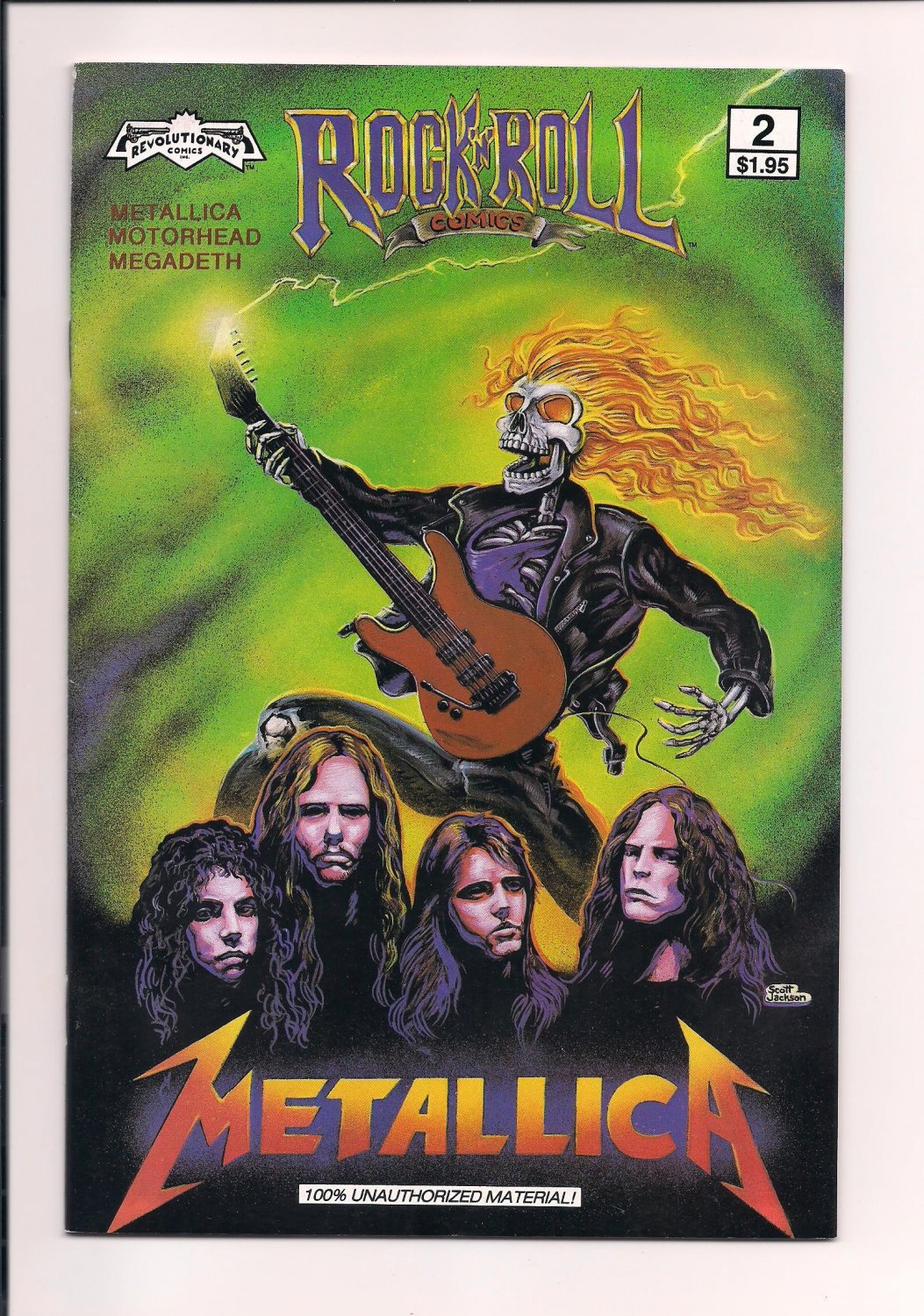 Rock 'N' Roll Comics #2 Metallica (1989) Revolutionary Comics vf or better sh2