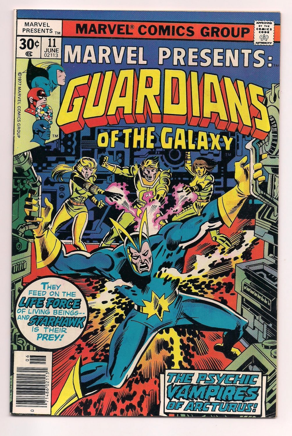 Marvel Presents #11 (1975) Guardians of the Galaxy vf / or better Newsstand sh2