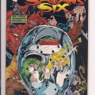 Satans's Six #4 (1994) near mint condition (still bagged with cards intact) sh4