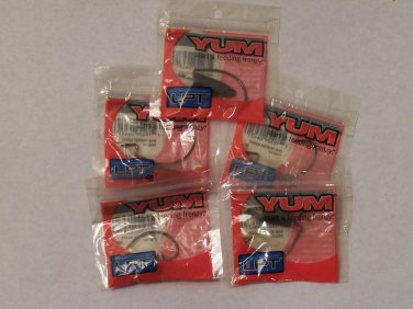 5 Pkgs YUM Texas Rig Fishing Hook and Bullet Weight sets 3/0 hook 3/8oz weight bass fishing Y001