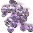 AMETHYST FACETED GEMSTONES Loose Gems - 24 Carat Lots