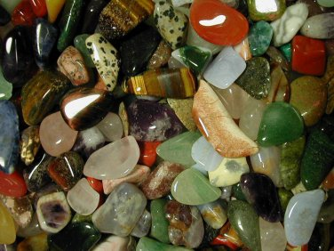 200+ Tumbled Gems 'Dime Size' Mix! 1 lb Polished Stones
