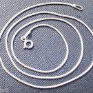 Sterling Silver 92.5% Snake Chain 18 Inches With Spring Lock (732)