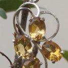 "Pendant Handmade 92.5% Sterling Silver Gemstone Oval Citrine 1.50x0.60"" (508)"