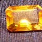 2.70 Carat Rectangle Emerald Citrine Gemstone Cut Stone Size 7 x 10 mm (317)