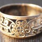 92.5% Sterling Silver Ring jali Work handmade Oxidised size 8.5 (339)