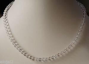 Necklace Lock & Extension Crystal Quartz Beaded 925 Sterling Silver 19inch (459)