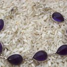 Bracelet  Natural Gemstone Amethyst 925 Sterling Silver 20.00 cms. length (15)