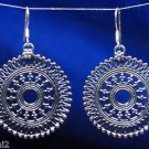 Round Earring Traditional Filigree Design 925 Solid Sterling Silver (329)