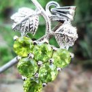Solid Sterling Silver 92.5% cut Peridot Gemstone Designer Pendant Green (415)