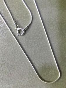 Sterling Silver 92.5% Chain 16 Inches Snake Chain With Spring Lock