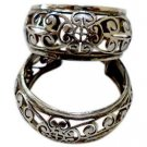 Earring Round Traditional Jali Design 92.5% Solid Sterling Silver Handmade (434)