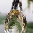 Sterling Silver 92.5% Pendant Citrine Natural Gemstone 1.00 x 0.40 inches (113)