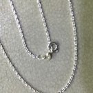 92.5% Solid Sterling Silver Link Chain 18 Inches Spring Lock 2.00 Gram