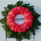 Peppermint Silk Cemetery Flowers/Grave Wreath for Grandma