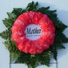 Peppermint Silk Cemetery Flowers/Grave Wreath for Mother
