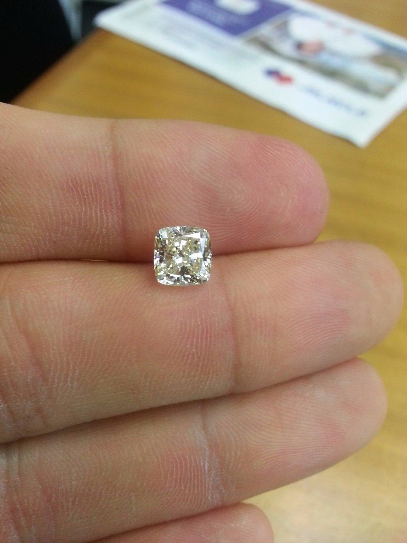 2.00 Carat Cushion J VVS1 100% Natural Diamond Near Flawless Gorgeous Must See!!