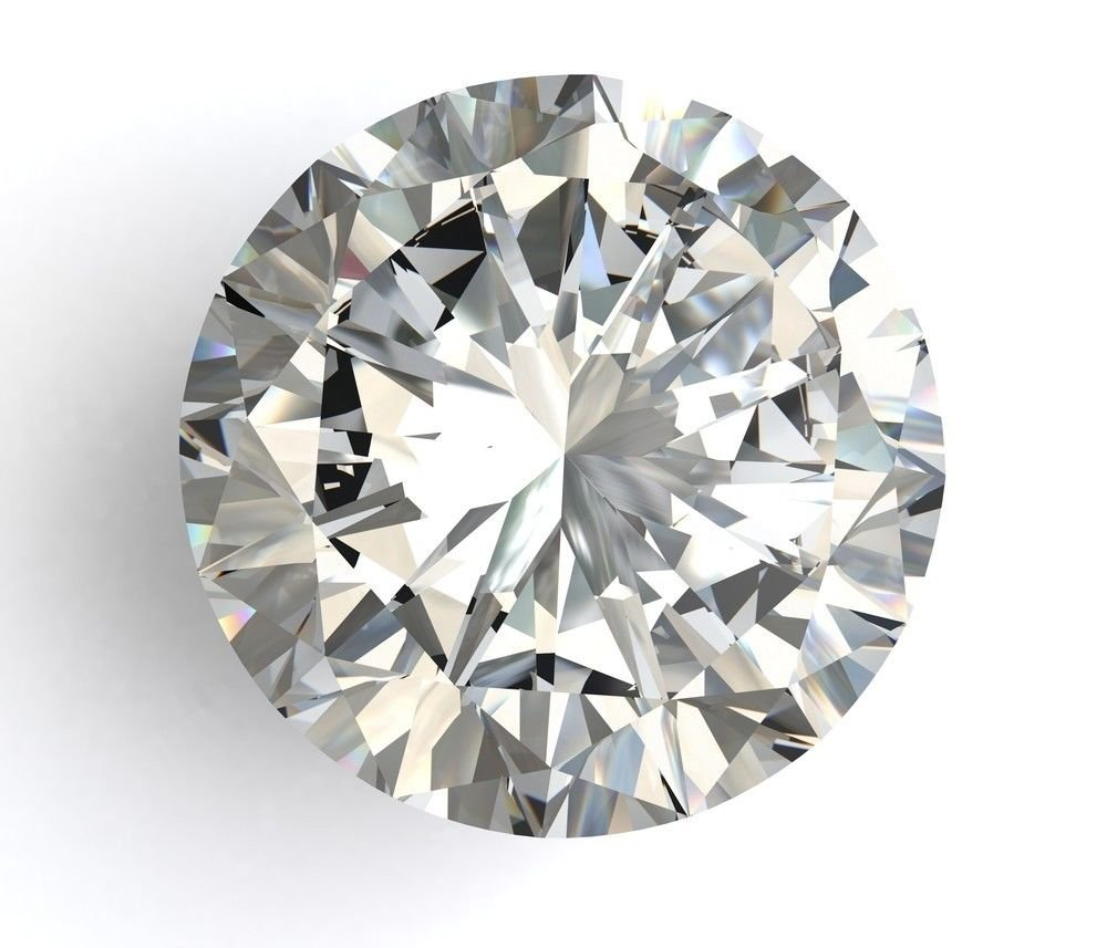 1.66 Carat E SI2 Round Cut Diamond Loose Certified 100% Natural 7.65 mm VG VG