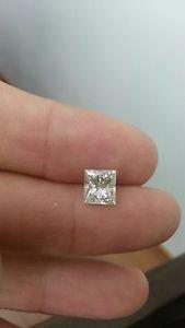 2.07 Carat Princess G SI2 100% Natural Certified Diamond 7.42 X 6.85  Stunning!!
