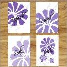 Purple Bathroom Wall Art Bath Pictures Prints Floral Daisy Flower Quote Soak Relax Unwind