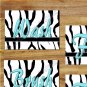 Turquoise Teal/Blue Wall Art Zebra Pictures Prints Bath Quote Rule Flush Wash Brush Flush