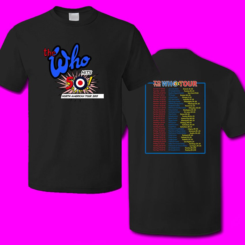 The WHO tour 2016 by Show concert scedules