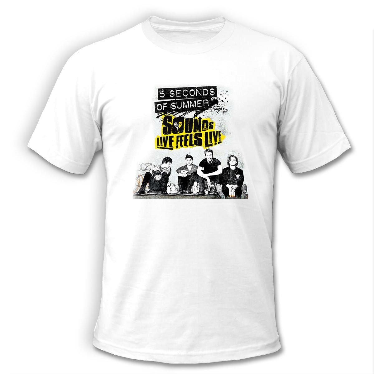 5 SOS Seconds of Summer Tour 2016 Show Concert scedules White T-Shirt