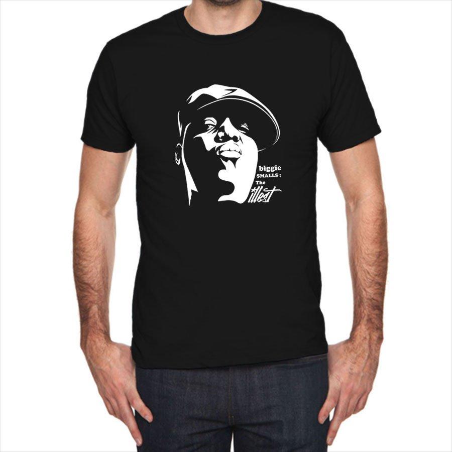 Biggie Smalls The illest Face siluet black t-shirt