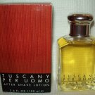 Vintage TUSCANY PER UOMO AFTER SHAVE LOTION 3.4 oz. / 100ml ARAMIS MEN Cologne
