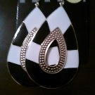 Black & White Oval Earrings